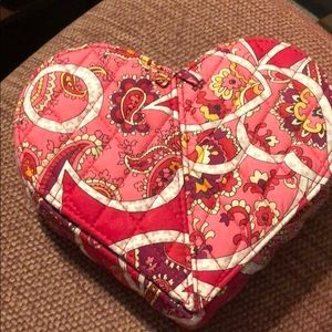 Vera Bradley heart shaped travel jewelry case